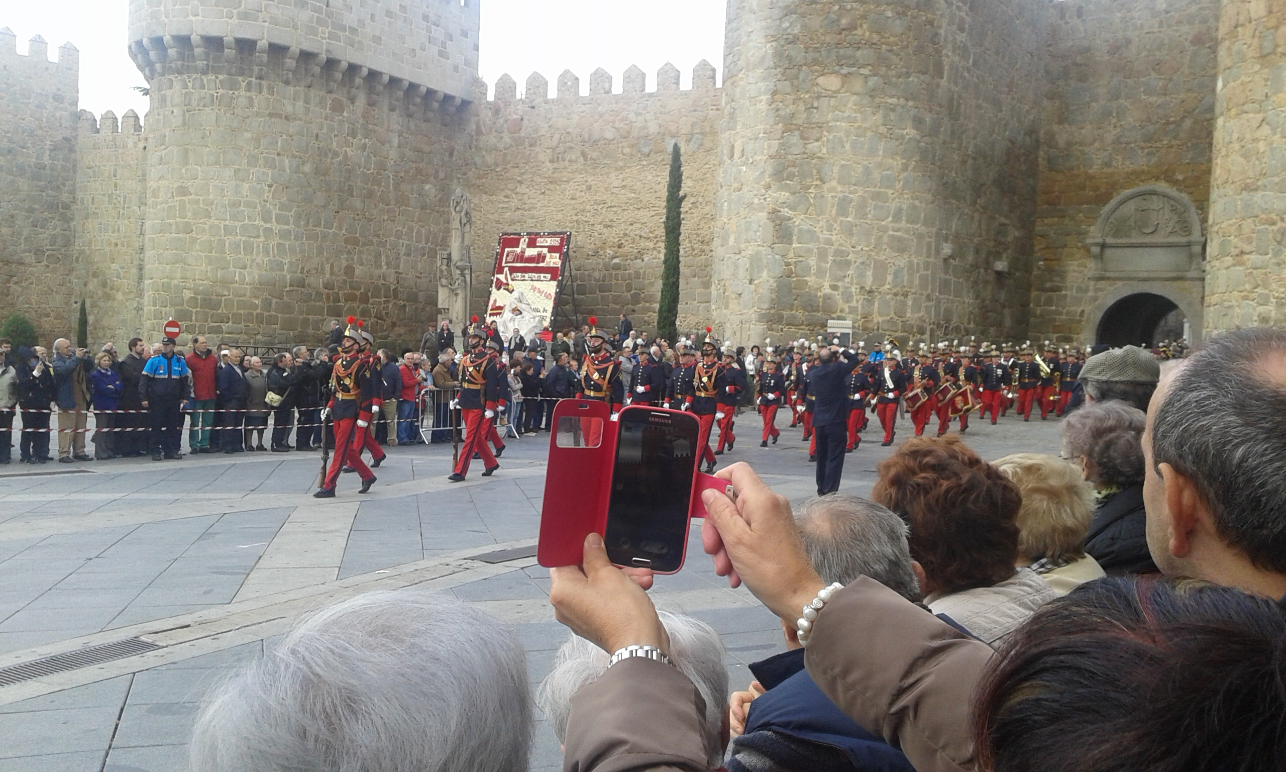 Avila - Katonai tiszteletadás - 2015